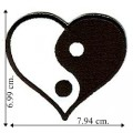 Yin-Yang Heart Embroidered Iron On Patch