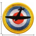 Military Target US Top gun Embroidered Iron On Patch