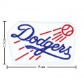 Los Angeles Dodgers Round Style-1 Embroidered Iron On Patch