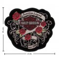 Harley Davidson American Beauty Patches Embroidered Iron On Patch
