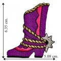 Cowgirl Boot Style-1 Embroidered Iron On Patch