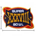 Super Bowl XXXVIII 2003 Style-38 Embroidered Iron On Patch
