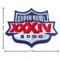 Super Bowl XXXIV 1999 Style-34 Embroidered Iron On Patch
